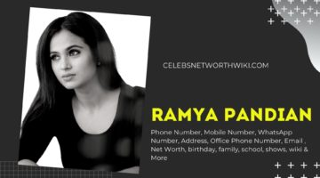 Ramya Pandian Phone Number, WhatsApp Number, Contact Number, Office Phone Number