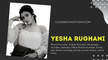 Yesha Rughani Phone Number, WhatsApp Number, Contact Number, Office Phone Number